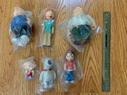 NEW SET OF 6 MEZCO FOX'S FAMILY GUY FIGURES IN BAG AS PICTUR