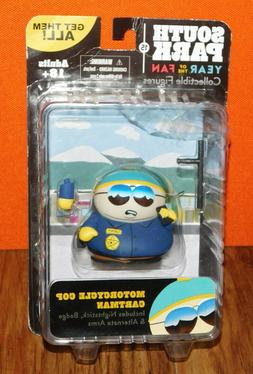 New SOUTH PARK MOTORCYCLE COP CARTMAN ACTION FIGURE w/Nights