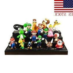 NEWEST Super Mario Bros Lot 18pcs Action Figure Doll Playset