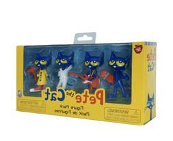 NiP Pete The Cat 4 Pack Figurine Set