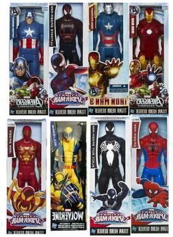 Official Marvel Avengers Titan Hero Spiderman Iron Action Fi