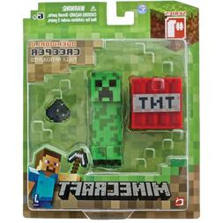 overworld creeper articulated action figure with accessories