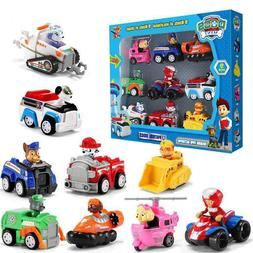 Paw Patrol Action Figure Model 9 Pieces Racer Vehicles Set K