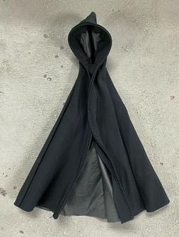 PB-LK-BLK: Wired Black Hooded Cape for 6 inch action figures