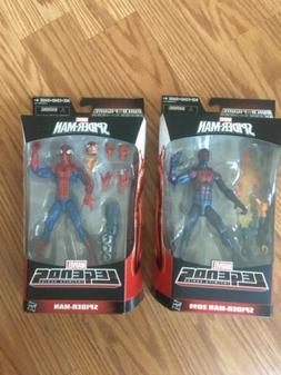 Marvel Legends Pizza Spider-Man And Spider-Man 2099 Build A