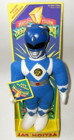"Power Rangers 10"" Plush Blue Ranger Action Pal Figure"