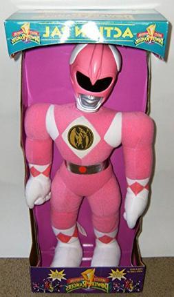 "Power Rangers 18"" Plush Pink Ranger Action Pal Figure"