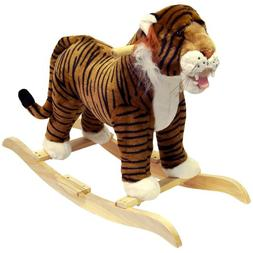 Plush Tiger Rocking Animal w Hardwood Core