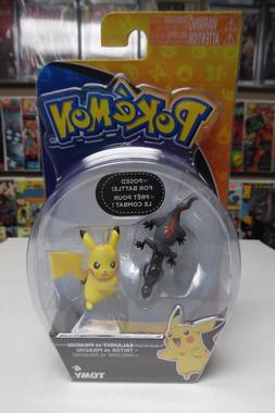 Pokémon Action Pose Figures, Salandit vs Pikachu TOMY ~ NIP