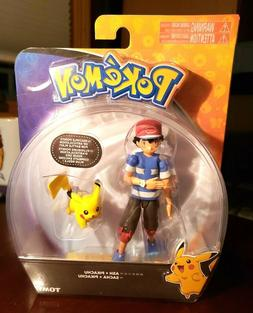 POKEMON ASH + PIKACHU TOMY ACTION FIGURE TOYS ARTICULATION B