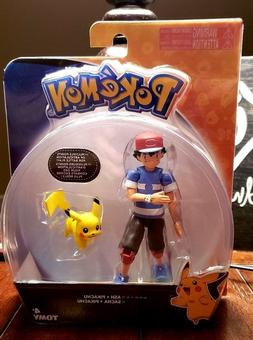 POKEMON ASH + PIKACHU TOMY ACTION FIGURE TOYS ARTICULATION R