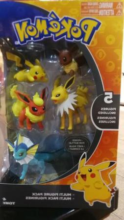 Pokemon TOMY Figure Vaporeon Jolteon Flareon Pikachu Eevee M
