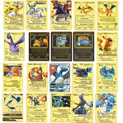 Pokemon Metal Card Game Anime Battle Card Gold <font><b>Char
