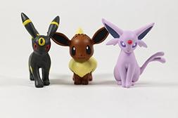 Pokemon X & Y Eevee, Espeon, & Umbreon Set of 3 Toy Figurine