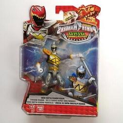 """POWER RANGERS DINO SUPER CHARGE SILVER ACTION HERO 5"""" SUPERC"""