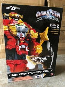 Power Rangers Ninja Steel Lion Fire Fortress Zord Action Fig