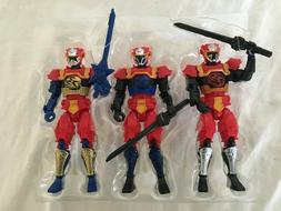 Power Rangers Ninja Steel Lion Fire Red, Blue & Gold Ranger
