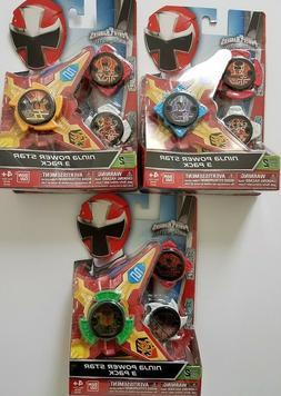 Power Rangers Ninja Steel - Ninja Power Star 3 Pack, SERIES
