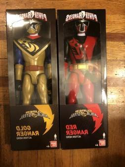 Power Rangers Super Ninja Steel Red Gold 12 Inch Figures