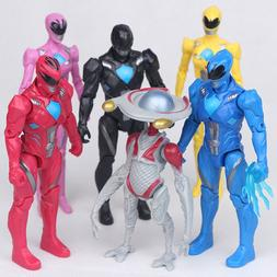 Power Rangers Yellow Black Red Ranger Movie 6 PCS Ranger Act