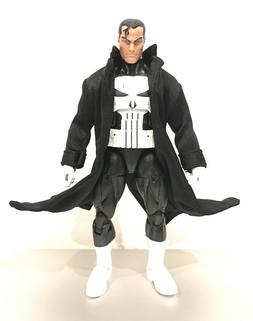PP-LTC-BLK: 1/12 Scale Black Fabric Coat for Mezco or Marvel