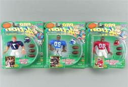 Starting Lineup Pro Action John Elway Jerry Rice Barry Sande