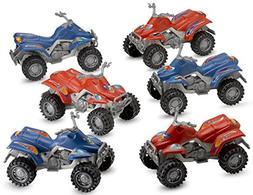 Pull Back Diecast ATV Toy Cars - 6 Pieces - For Kids Collect