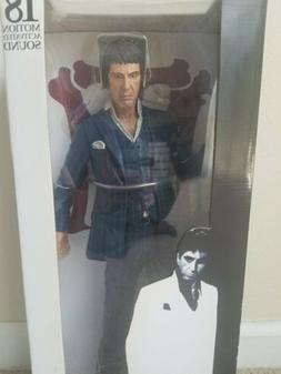 Neca Reel Toys 18 Inch Motion Sound Scarface Statue / Figure