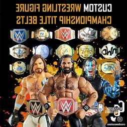 Custom Wrestling WWE/AEW/WWF/NJPW/ROH Belts Mattel/Jakks/Has