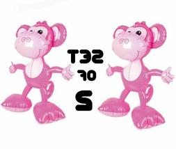24'' Pink & Blue Big Footed Monkeys Inflatables party Decor