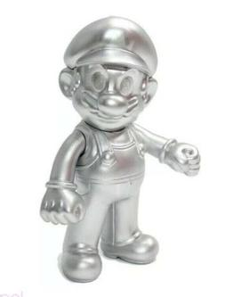 Silver Metal Mario Figure Super Mario Bros Toy Action Figure