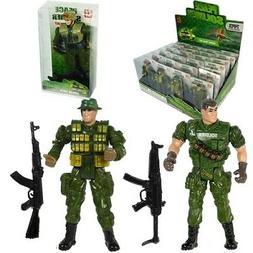 Soldier w/ Gun Military Action Figure 2 Piece Set Bulk