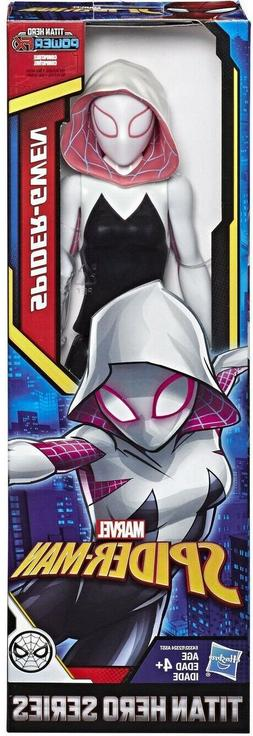 """SPIDER-GWEN 12"""" Inch Marvel PowerFX Spider-man Titan Hero Se"""