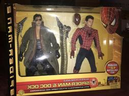 "ToyBiz Spider-Man 2 Super Poseable Spider-Man Doc Ock 12"" Co"