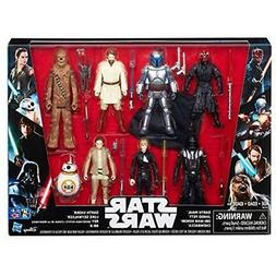 Star Wars Action Figures Saga 8 Pack With Darth Maul Toys ""