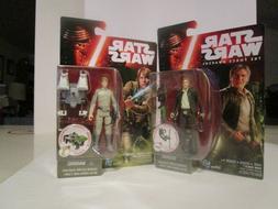 "Hasbro Star Wars Han Solo and Luke Skywalker ""3.75 Inch Acti"