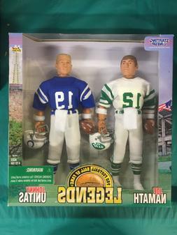 Starting LineUp Pro Football Legends Joe Namath & Johnny Uni