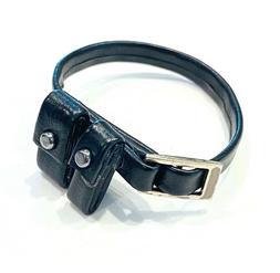 """SU-BLP-BLK: 1/12 scale Black Pouch Belt for 6"""" Action figure"""