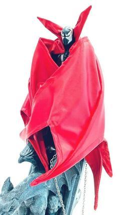 SU-C-MF-SPD-R: Custom Red wired cape for McFarlane MK11 Spaw