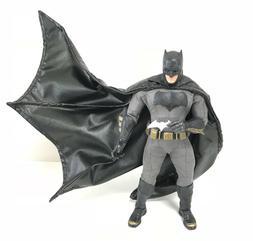 SU-C-MZB: Black Wired Cape for Mezco One:12 BvS Batman