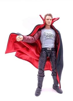 """SU-C-VP: Black Red Dracula Style Wired Cape for 6"""" Action Fi"""