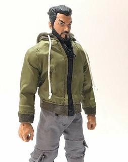 SU-HDJ-GR: 1/12 Green Wired Hoodie Jacket for Mezco, Marvel