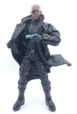 SU-LTC-BLK: 1/12 Black Wired Trench Coat for Mezco, Marvel L