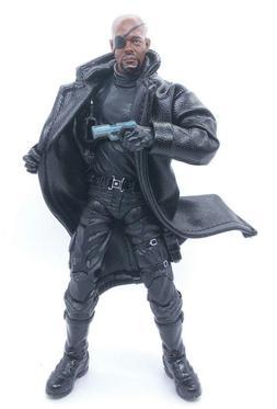 SU-LTC-BK: 1/12 Black Wired Trench Coat for Mezco, Marvel Le