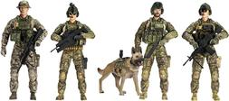 Sunny Days Elite Force Army Ranger Action Figures 5 Pack Mil