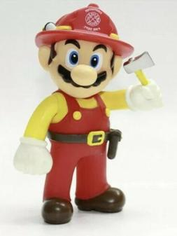 """Super Mario Firefighter 5"""" Cake Topper Collection Figure T"""