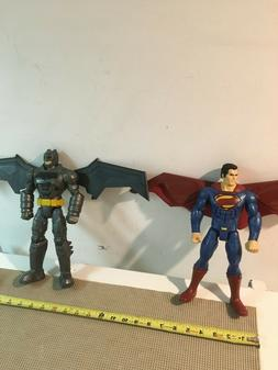 Superman and Batman 12 inch figures with wings DC Comics 201