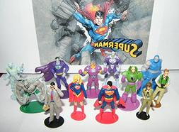 Superman Deluxe Mini Figure Set of 13 with Supergirl, Doomsd