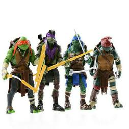 Teenage Mutant Ninja Turtles 4pcs Action Figures TMNT Classi