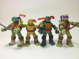 Teenage Mutant Ninja Turtles 4x Action Figures Set: Leo Ralp